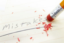 mistakes in pencil being erased, common website mistakes