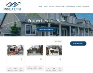 Sample of a site with real estate listings from Exposure One Web Design