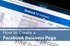 "Image of facebook for business with words ""How to Create a Facebook Business Page"""